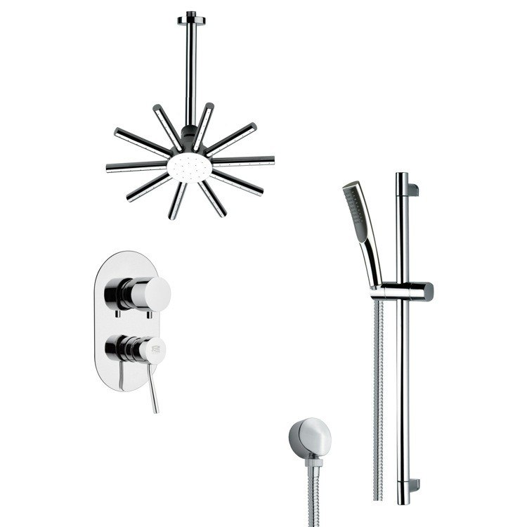 REMER SFR7089 RENDINO SLEEK POLISHED CHROME SHOWER FAUCET WITH HAND SHOWER
