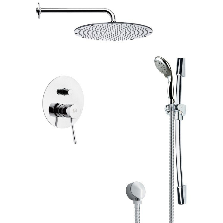 REMER SFR7092 RENDINO SLEEK POLISHED CHROME SHOWER FAUCET WITH HAND SHOWER