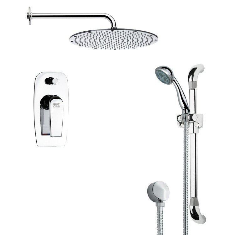 REMER SFR7093 RENDINO SLEEK POLISHED CHROME SHOWER FAUCET WITH HAND SHOWER