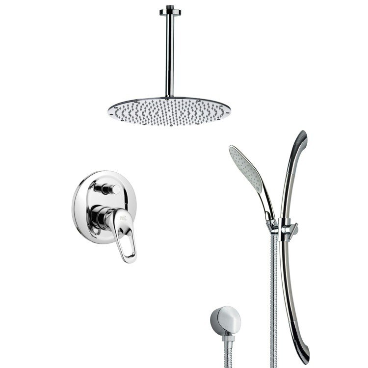 REMER SFR7094 RENDINO SLEEK POLISHED CHROME SHOWER FAUCET WITH HAND SHOWER