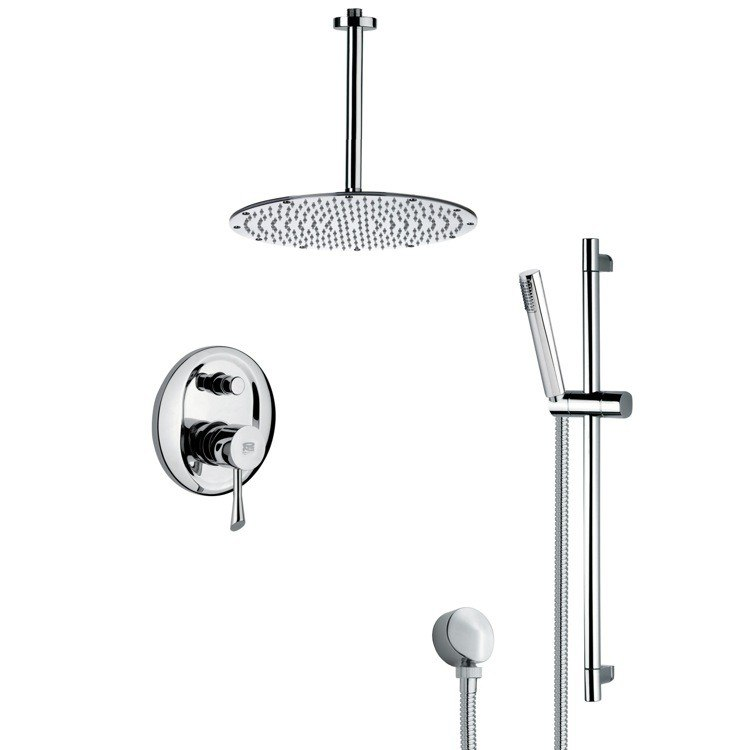 REMER SFR7095 RENDINO SLEEK POLISHED CHROME SHOWER FAUCET WITH HAND SHOWER