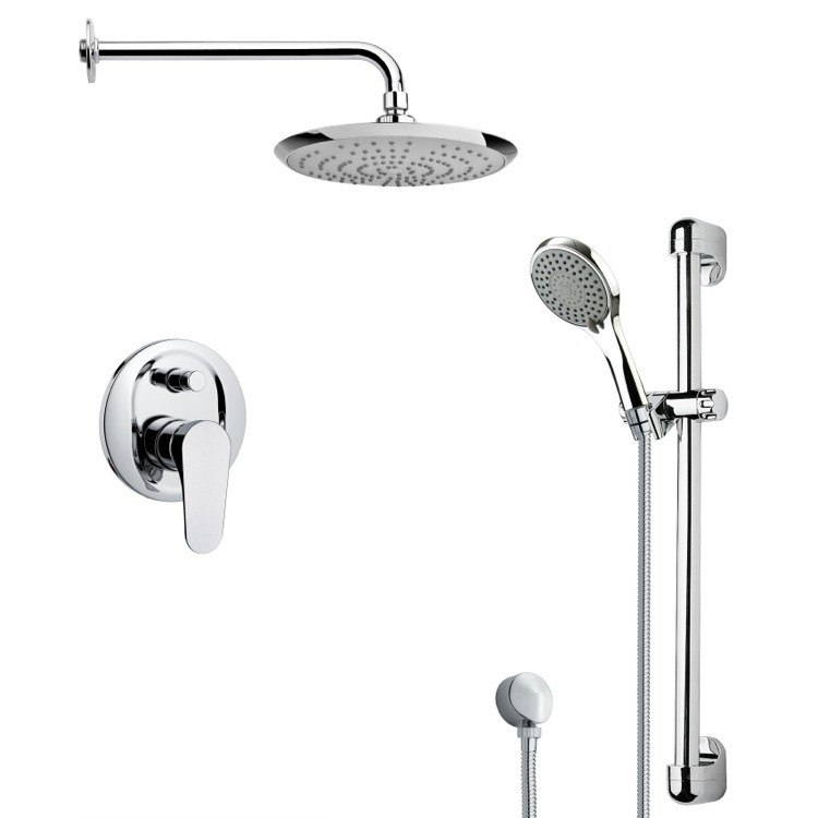 REMER SFR7163 RENDINO ROUND SLEEK CHROME SHOWER FAUCET SET
