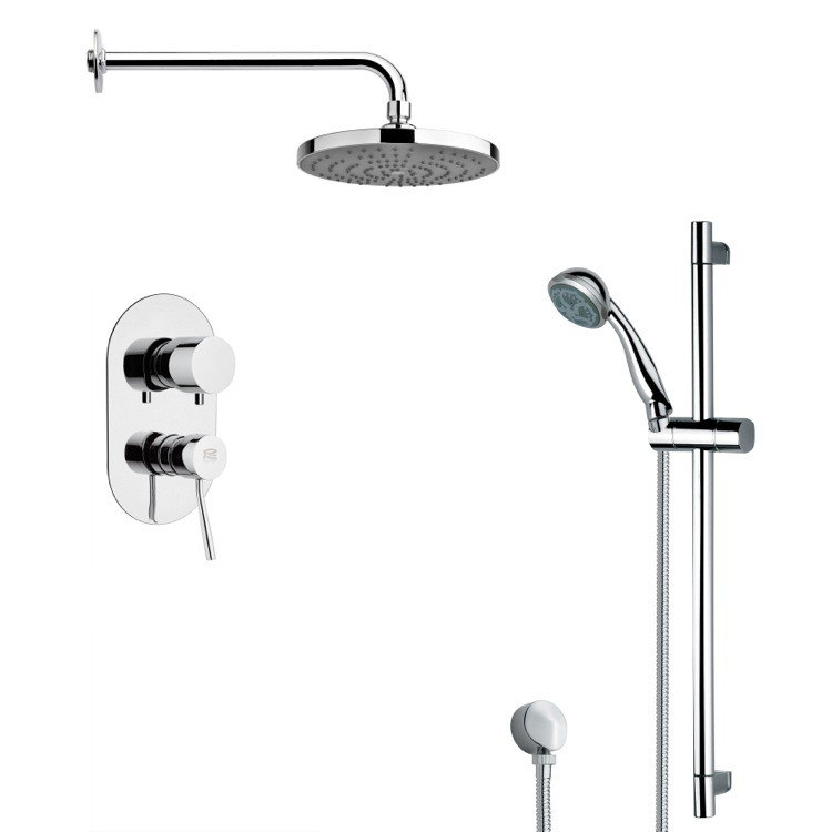 REMER SFR7168 RENDINO ROUND SLEEK CHROME SHOWER FAUCET SET