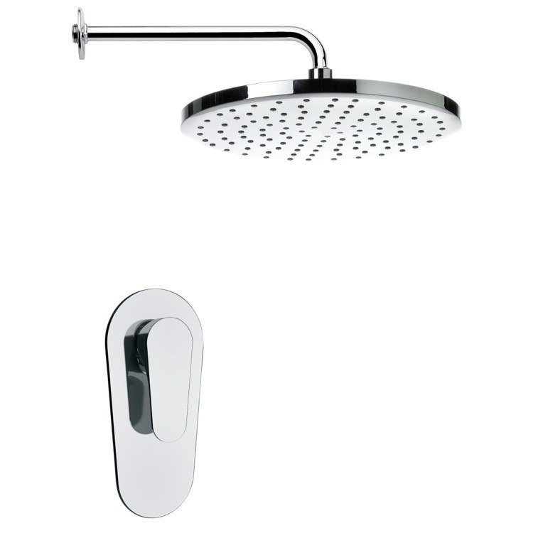 REMER SS1002 MARIO ROUND MODERNRAIN SHOWER FAUCET SET IN CHROME