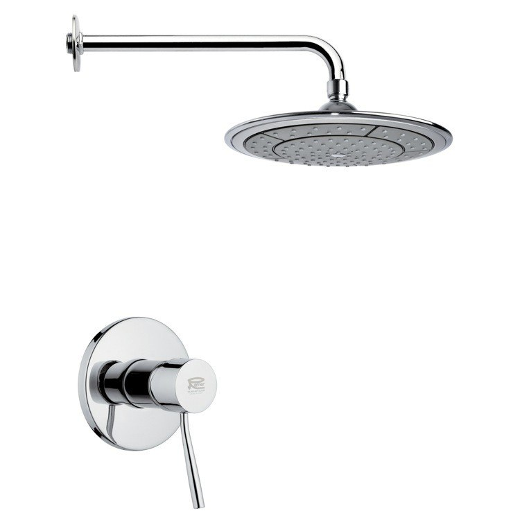 REMER SS1010 MARIO ROUND MODERN SHOWER FAUCET SET IN CHROME