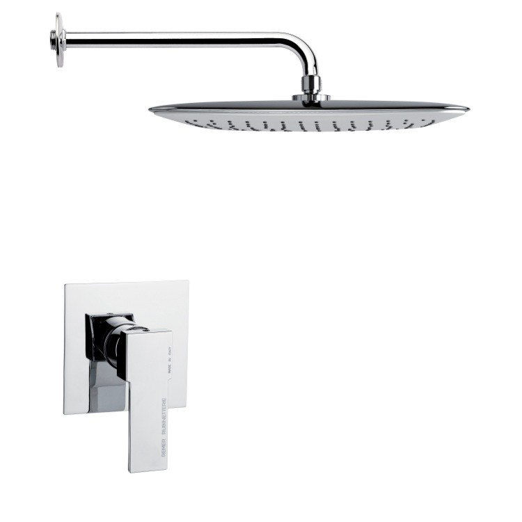 REMER SS1012 MARIO FULL FUNCTION CONTEMPORARY CHROME SHOWER FAUCET SET