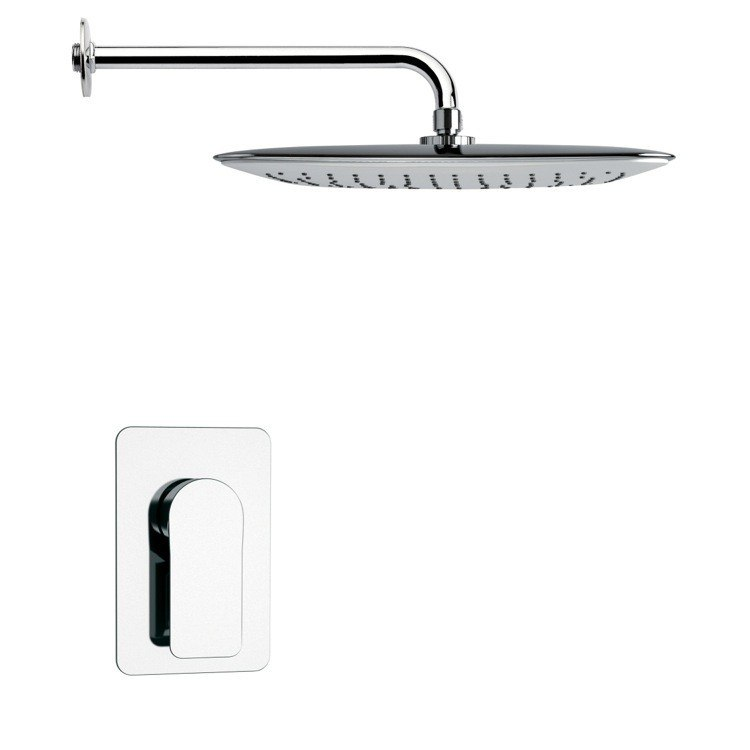 REMER SS1014 MARIO FULL FUNCTION CONTEMPORARY CHROME SHOWER FAUCET SET
