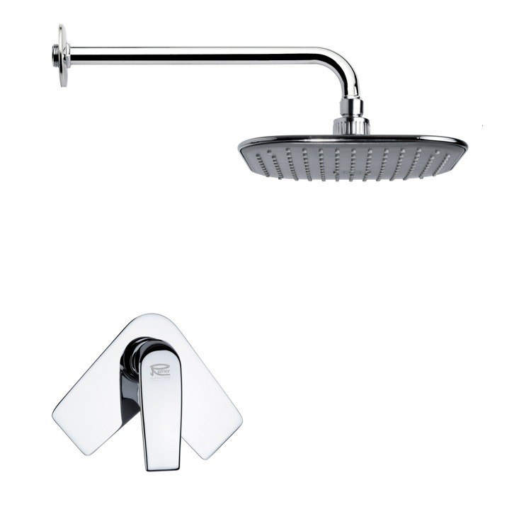 REMER SS1020 MARIO CONTEMPORARY CHROME SHOWER FAUCET SET