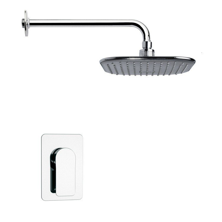 REMER SS1023 MARIO MODERN POLISHED CHROME SHOWER FAUCET SET