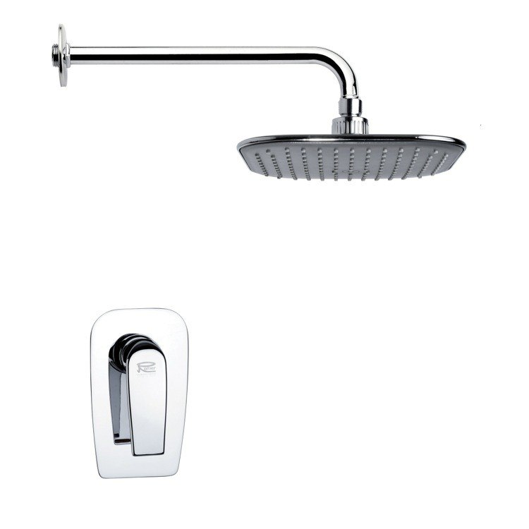 REMER SS1024 MARIO MODERN POLISHED CHROME SHOWER FAUCET SET