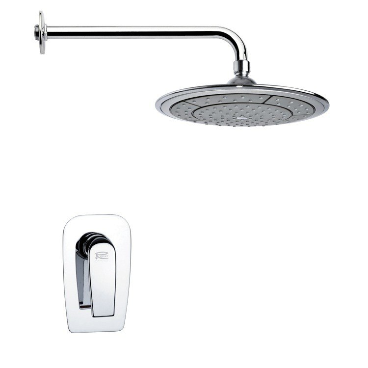 REMER SS1025 MARIO MODERN POLISHED CHROME SHOWER FAUCET SET