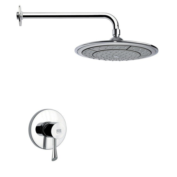 REMER SS1026 MARIO MODERN POLISHED CHROME SHOWER FAUCET SET