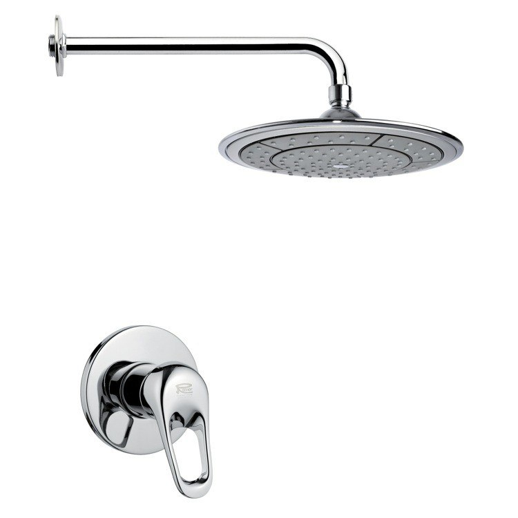 REMER SS1027 MARIO MODERN POLISHED CHROME SHOWER FAUCET SET