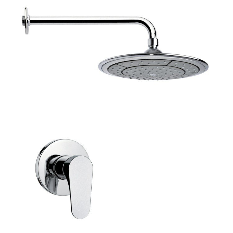 REMER SS1028 MARIO MODERN POLISHED CHROME SHOWER FAUCET SET