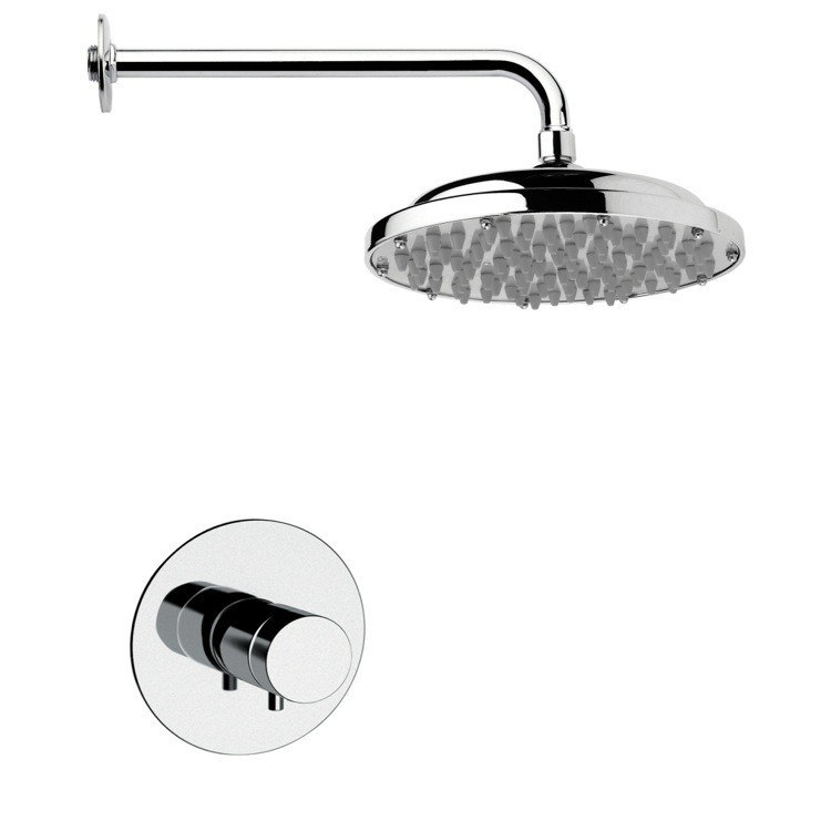 REMER SS1033 MARIO MODERN POLISHED CHROME SHOWER FAUCET SET
