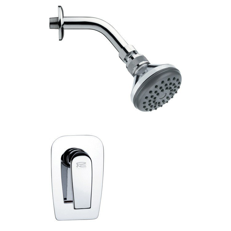 REMER SS1053 MARIO ROUND CONTEMPORARY SHOWER FAUCET SET IN CHROME