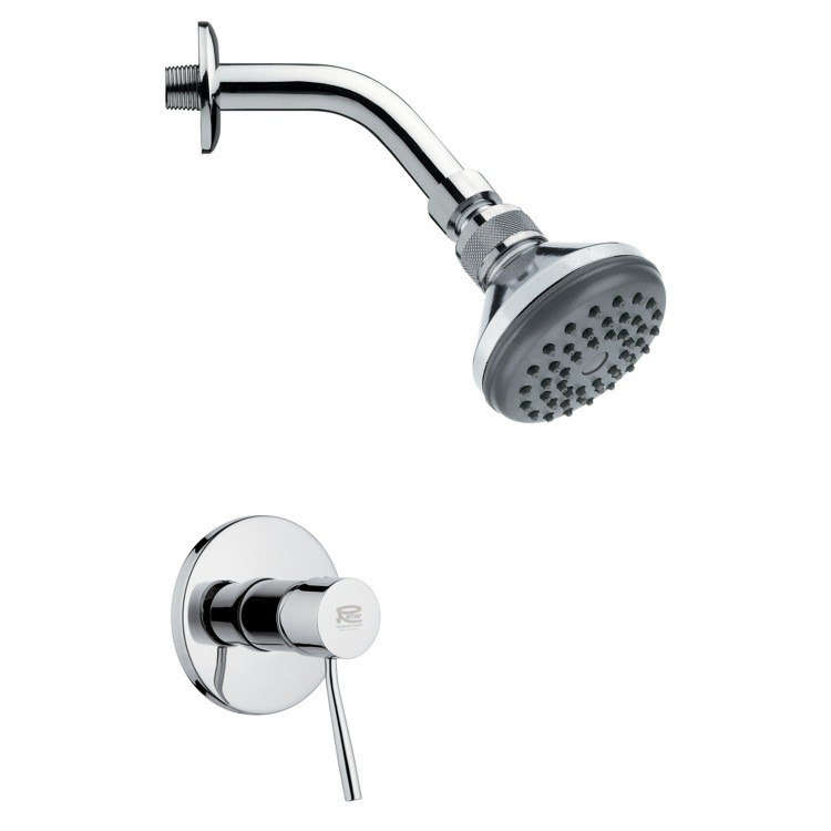 REMER SS1055 MARIO ROUND CONTEMPORARY SHOWER FAUCET SET IN CHROME