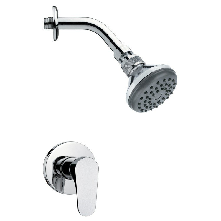 REMER SS1056 MARIO CONTEMPORARY POLISHED CHROME SHOWER FAUCET SET