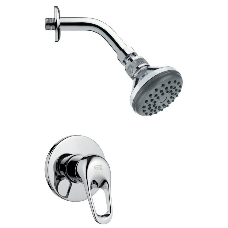 REMER SS1057 MARIO CONTEMPORARY POLISHED CHROME SHOWER FAUCET SET