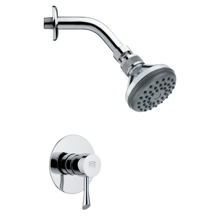 REMER SS1058 MARIO CONTEMPORARY POLISHED CHROME SHOWER FAUCET SET