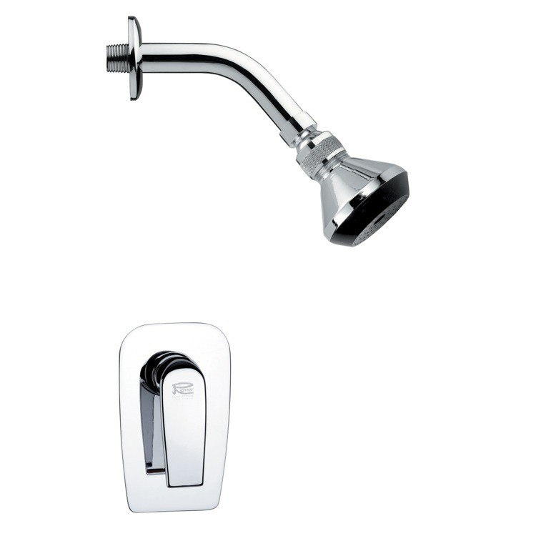 REMER SS1060 MARIO CONTEMPORARY POLISHED CHROME SHOWER FAUCET SET