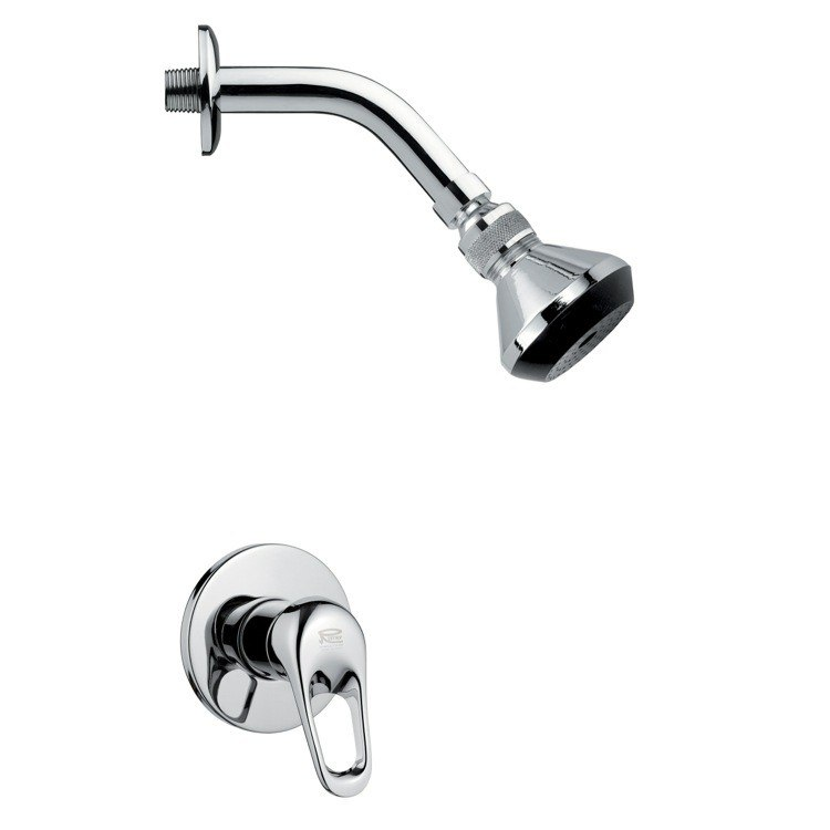 REMER SS1061 MARIO CONTEMPORARY POLISHED CHROME SHOWER FAUCET SET