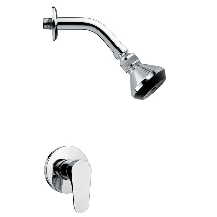 REMER SS1063 MARIO CONTEMPORARY POLISHED CHROME SHOWER FAUCET SET