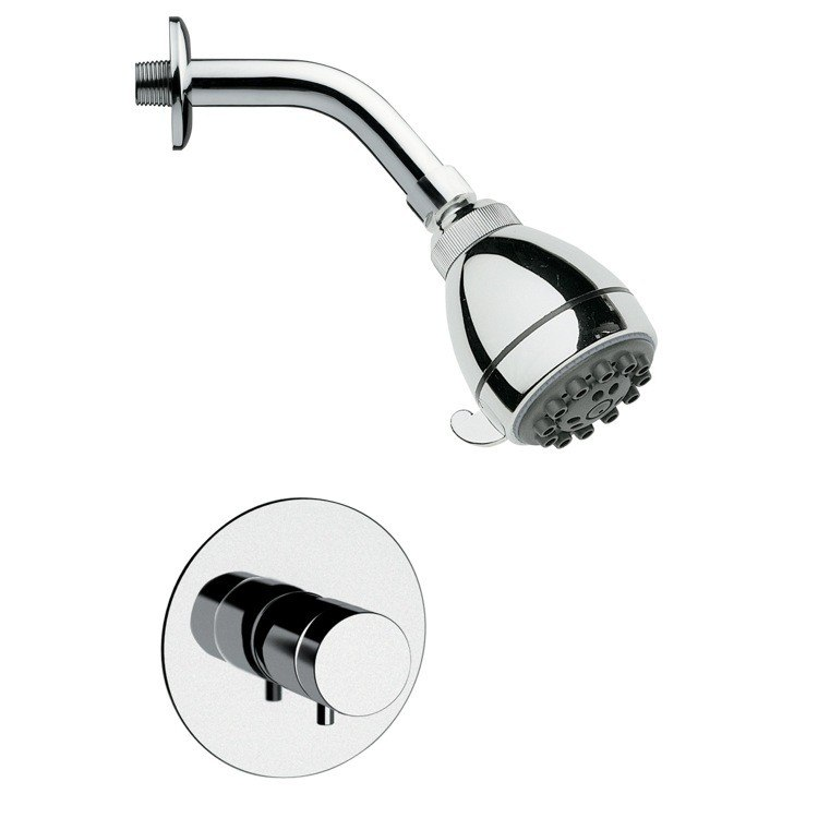 REMER SS1070 MARIO MODERN ROUND CHROME SHOWER FAUCET SET
