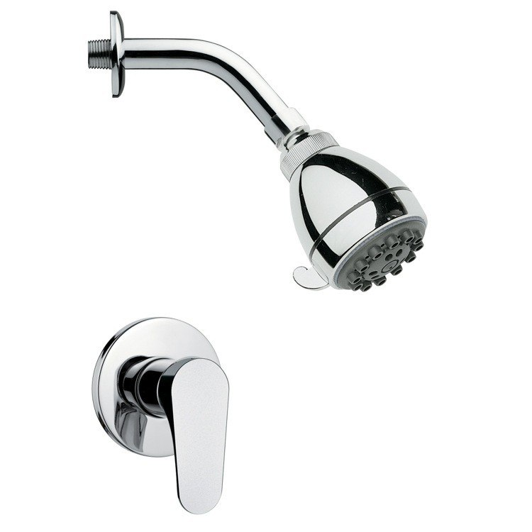 REMER SS1072 MARIO MODERN ROUND CHROME SHOWER FAUCET SET