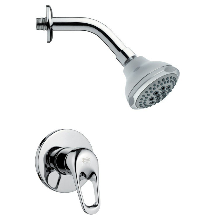 REMER SS1074 MARIO MODERN ROUND CHROME SHOWER FAUCET SET