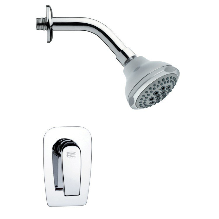 REMER SS1075 MARIO MODERN ROUND CHROME SHOWER FAUCET SET