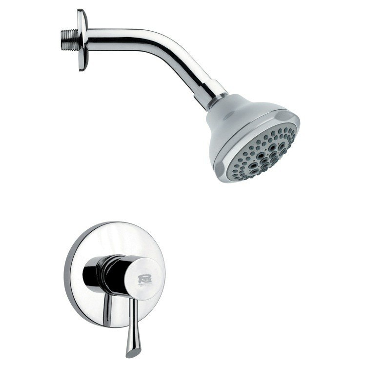 REMER SS1076 MARIO MODERN ROUND CHROME SHOWER FAUCET SET