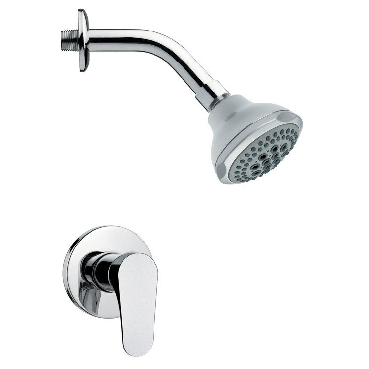 REMER SS1077 MARIO MODERN ROUND CHROME SHOWER FAUCET SET