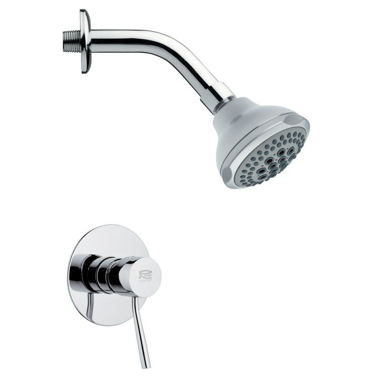 REMER SS1078 MARIO ROUND MODERN ROUND SHOWER FAUCET SET IN CHROME