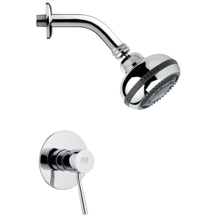 REMER SS1079 MARIO ROUND POLISHED CHROME SHOWER FAUCET SET