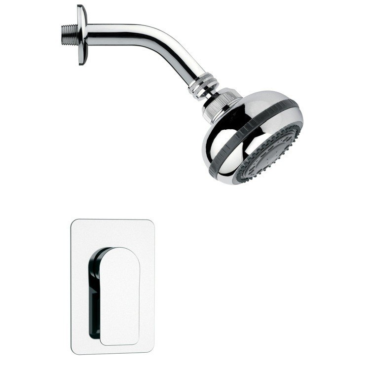 REMER SS1080 MARIO ROUND POLISHED CHROME SHOWER FAUCET SET