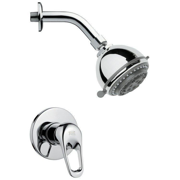 REMER SS1084 MARIO ROUND POLISHED CHROME SHOWER FAUCET SET