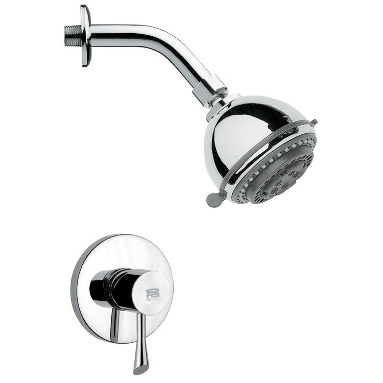 REMER SS1085 MARIO ROUND POLISHED CHROME SHOWER FAUCET SET