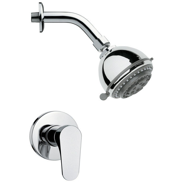 REMER SS1086 MARIO ROUND POLISHED CHROME SHOWER FAUCET SET