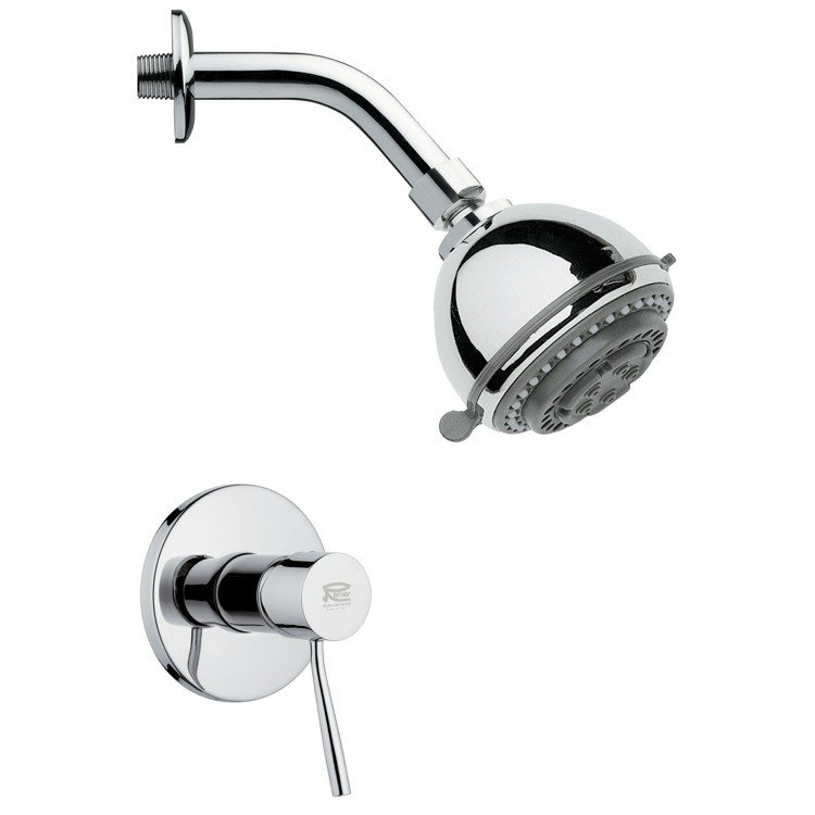 REMER SS1087 MARIO ROUND POLISHED CHROME SHOWER FAUCET SET