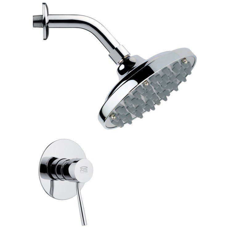 REMER SS1110 MARIO CONTEMPORARY ROUND POLISHED CHROME SHOWER FAUCET SET