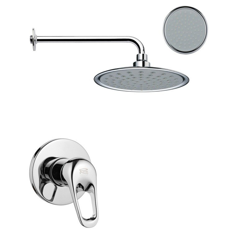 REMER SS1153 MARIO ONE-WAY SHOWER FAUCET SET IN POLISHED CHROME