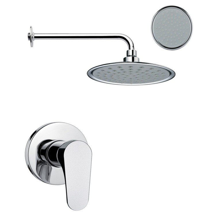 REMER SS1154 MARIO ONE-WAY SHOWER FAUCET SET IN POLISHED CHROME