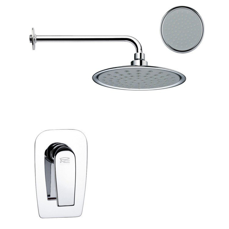 REMER SS1156 MARIO ONE-WAY SHOWER FAUCET SET IN POLISHED CHROME