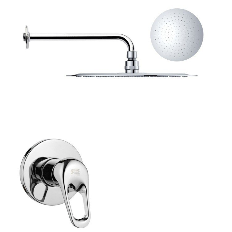 REMER SS1162 MARIO ROUND ONE-WAY SHOWER FAUCET SET WITH POLISHED CHROME FINISH