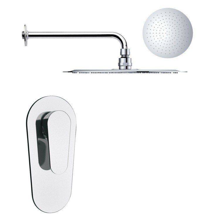 REMER SS1165 MARIO ROUND ONE-WAY SHOWER FAUCET SET WITH POLISHED CHROME FINISH
