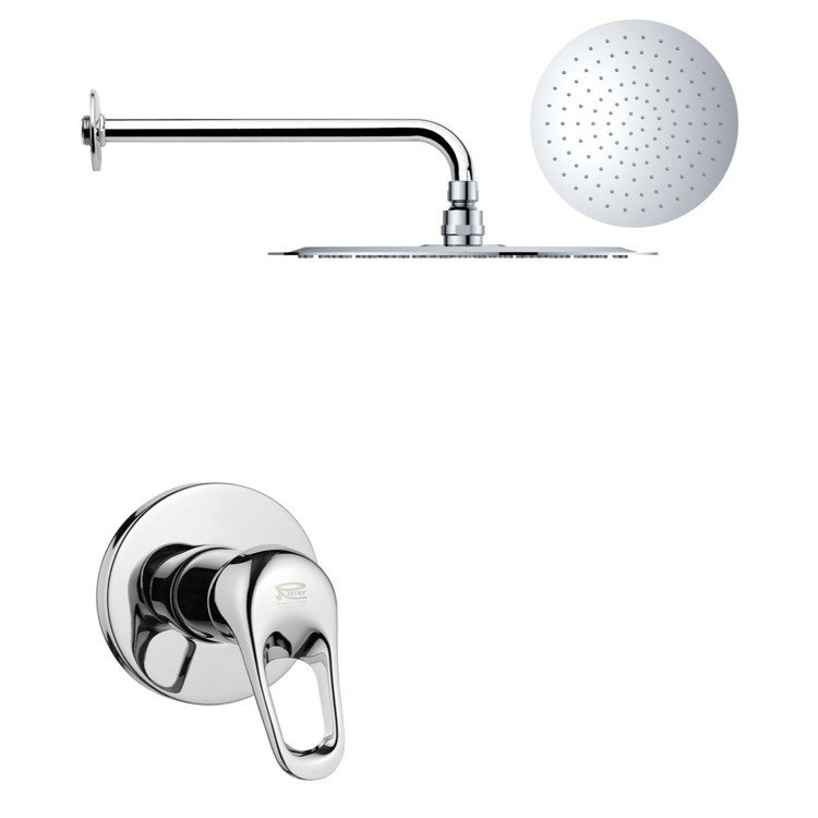 REMER SS1170 MARIO ROUND ONE-WAY SHOWER FAUCET SET WITH POLISHED CHROME FINISH