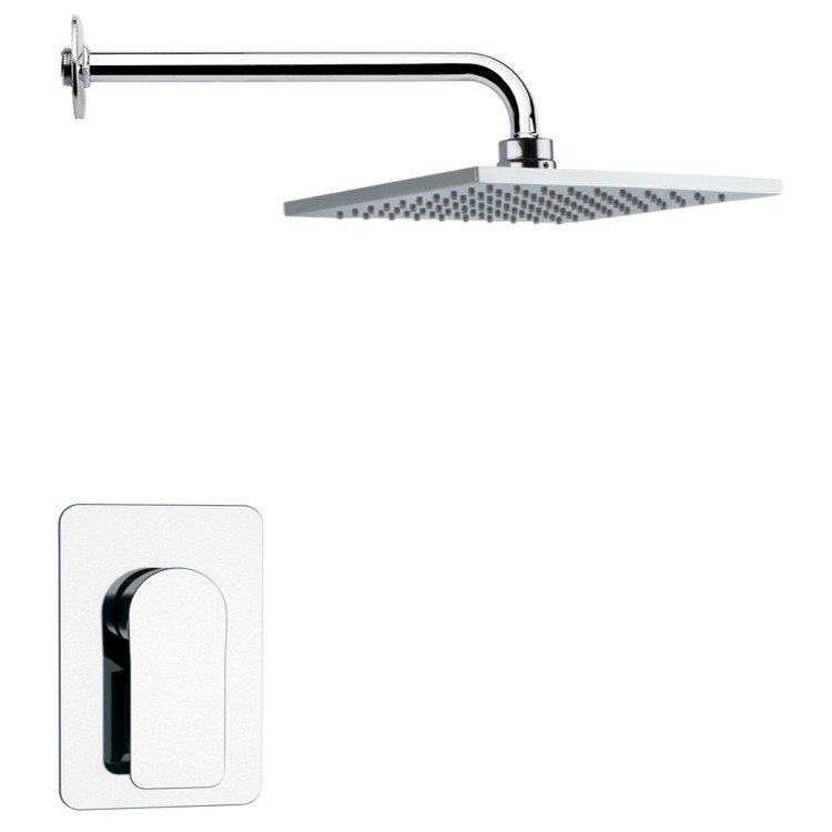 REMER SS1192 MARIO POLISHED CHROME ROUND SHOWER FAUCET SET