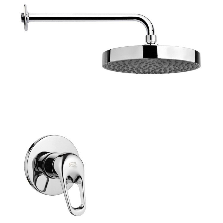 REMER SS1195 MARIO ROUND SHOWER FAUCET SET AVAILABLE IN CHROME