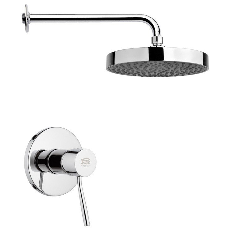 REMER SS1197 MARIO ROUND SHOWER FAUCET SET IN CHROME